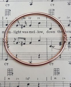 9ct Rose Gold Plain Round Tube Bangle