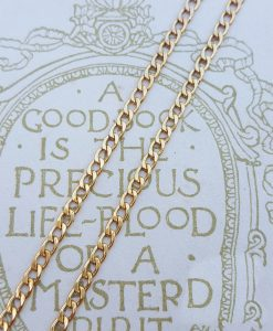 9ct Yellow Gold Curb 2.2mm Chain Necklace