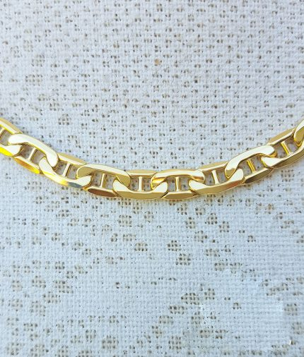 """9ct Yellow Gold Diamond Cut Anchor Link 5.4mm Chain Necklace 20"""" & 22"""""""