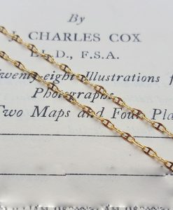 9ct Yellow Gold Anchor Style Chain Necklace 0.9mm