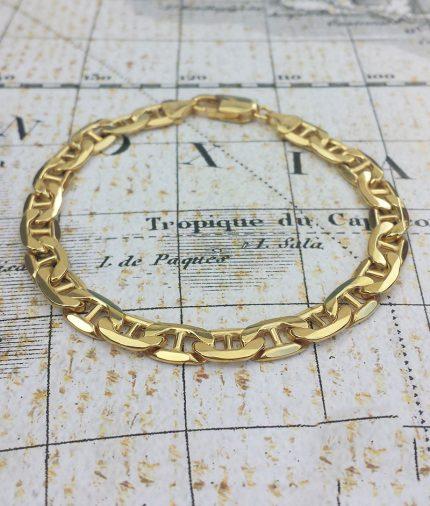 Men's 9ct Yellow Gold Anchor Style Bracelet 8''