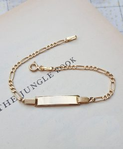 9ct Yellow Gold Children's Figaro ID Bracelet