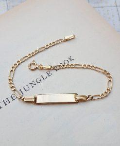9ct Yellow Gold Children's Figaro ID Bracelet