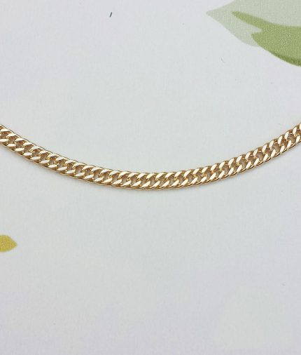 9ct Yellow Gold 3mm Close Curb Chain Necklace 20""