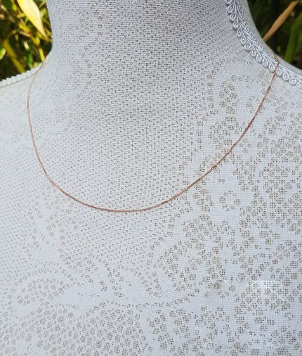 9ct Rose Gold 0.8mm Diamond Cut Curb Chain Necklace