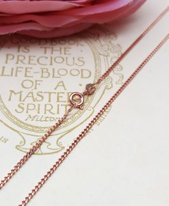9ct Rose Gold 1.5mm Diamond Cut Curb Chain Necklace