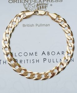 9ct Yellow Gold Unisex Solid Curb Bracelet