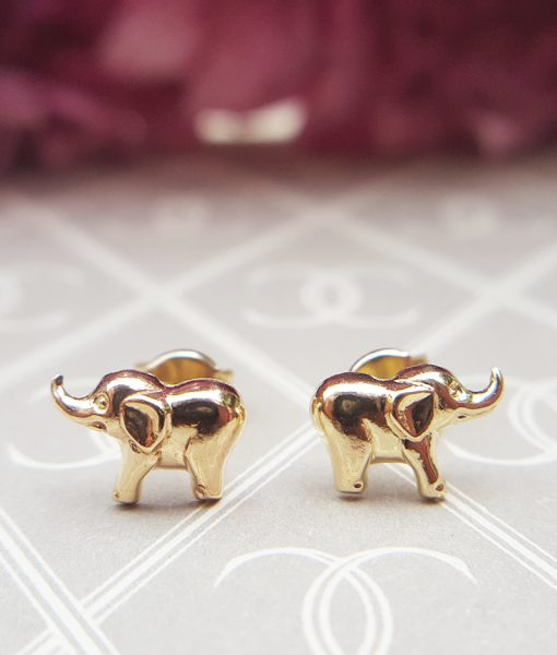 com elephant earrings amazon dp silver tiny stud sterling inch