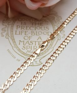 "Solid 9ct Yellow Gold 4.5mm Diamond Cut Curb Chain 20""-28"""
