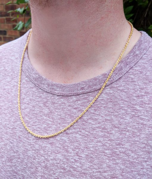 Fine 9ct Yellow Gold Rope 2 5mm Chain Necklace In 16 24