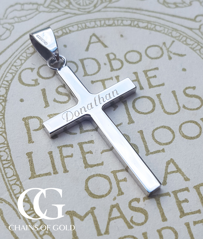 9ct Solid Yellow or White Gold Cross Pendant