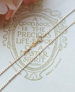 "9ct Yellow Gold Box 0.9mm Chain Necklace 18"" 20"" 22"""