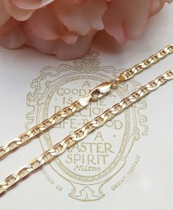 9ct Yellow Gold 4.8mm Anchor Style Chain Necklace 24""
