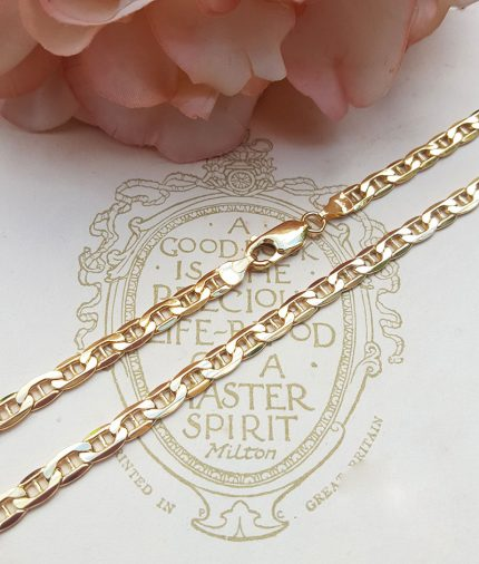 """9ct Yellow Gold 4.8mm Anchor Style Chain Necklace 24"""""""
