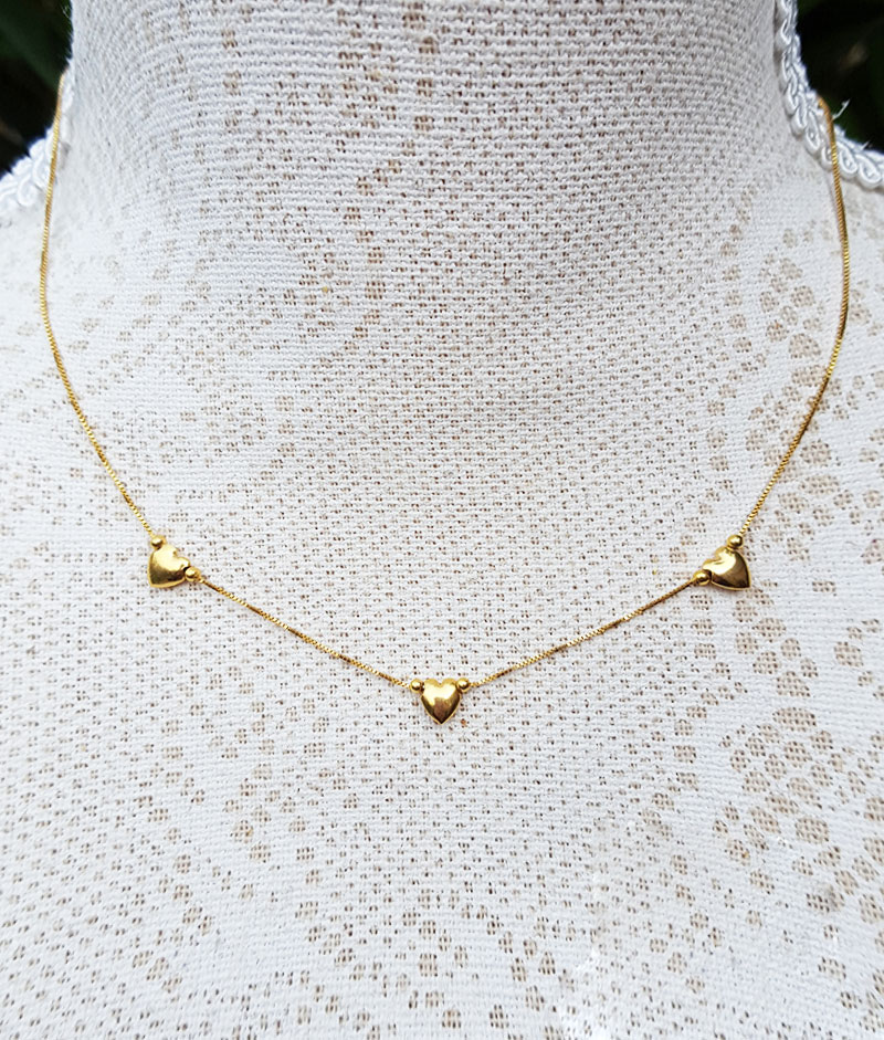 9ct Yellow Gold Hollow Heart Charm