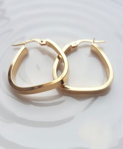 9ct Yellow Gold Polished Creole Earrings