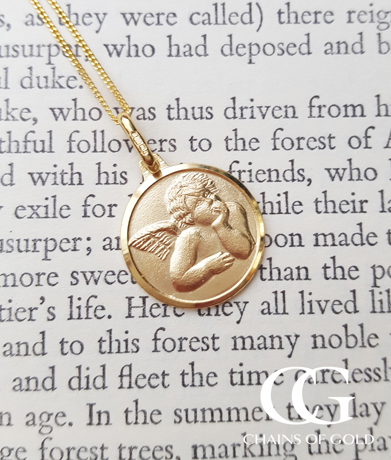Personalised guardian angel necklace for mum