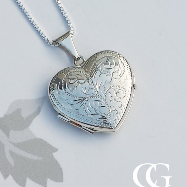 sterling silver locket pendant necklace chains of gold