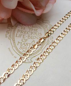 Chunky 9ct Yellow Gold 6.2mm Diamond Cut Curb Chain Necklace
