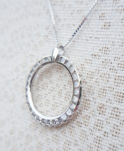 9ct Gold Circle of Love & Life Necklace in Yellow or White