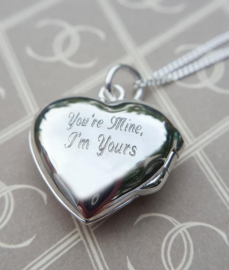 Sterling Silver Open Heart Locket Necklace