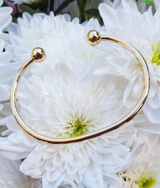 Ladies Solid 9ct Yellow Gold Torque Bangle Chains Of Gold
