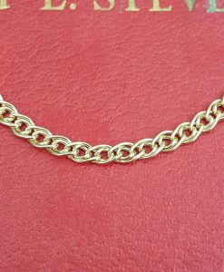 9ct Yellow Gold 4.6mm Double Curb Chain Necklace 20""