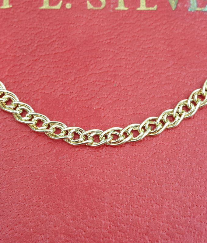 """9ct Yellow Gold 4.6mm Double Curb Chain Necklace 20"""""""