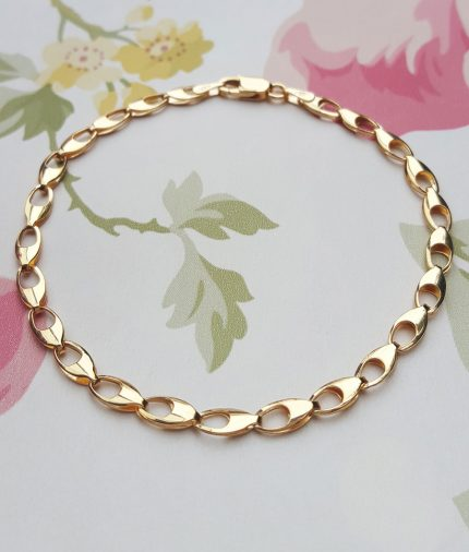 9ct Yellow Gold Claw Links Bracelet 7""