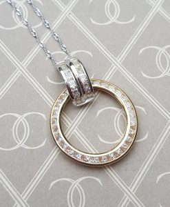 9ct Yellow & White Gold Circle of Love & Life Necklace