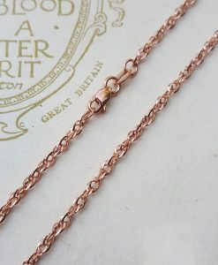 9ct Rose Gold 1.7mm Diamond Cut Prince of Wales Chain Necklace