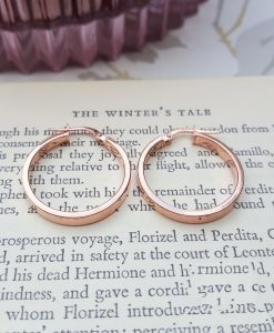 9ct Rose Gold 2.4cm Hoop Earrings