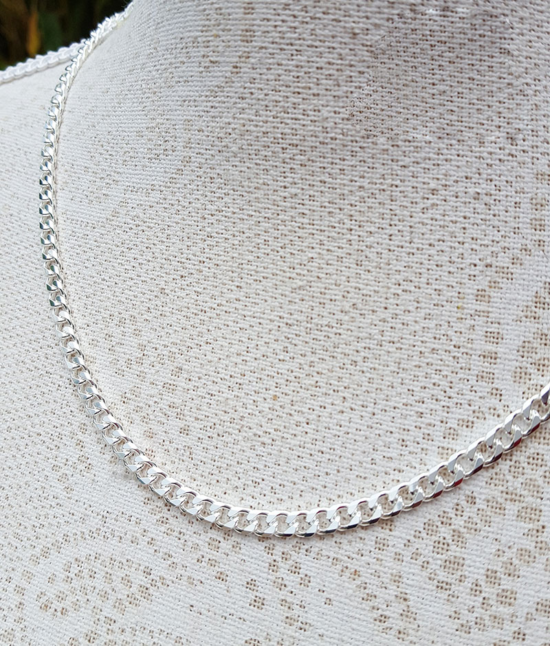 "51 CM 20/"" 1 STERLING SILVER 925 STRONG PRINCE OF WALES ROPE CHAIN"