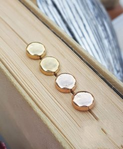 Delicate 9ct Yellow Gold Button Stud Earrings
