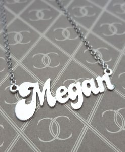 Solid 9ct Yellow Gold Personalised Name Necklaces