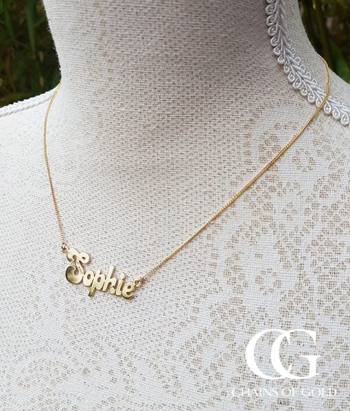 Solid 9ct yellow gold personalised name necklace chains of gold add to wishlist loading aloadofball