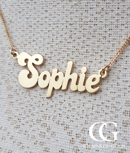 Solid 9ct yellow gold personalised name necklace chains of gold personalised name necklace add to wishlist loading aloadofball Gallery