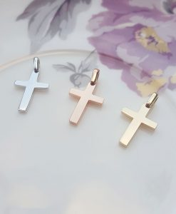 Small Solid Hand-Made 9ct Gold Cross Pendant
