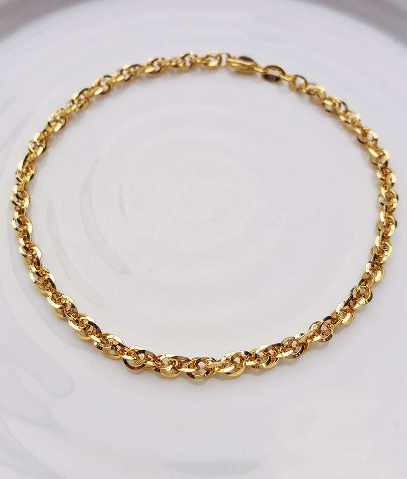 Yellow White or Rose Fine 9ct Gold Women/'s Prince of Wales Chain Bracelet 7.5″