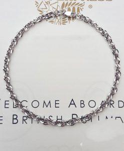 9ct white gold bracelet for women