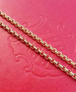 "9ct Yellow Gold 2.2mm Belcher Chain Necklace 20"" 22"" 24"""