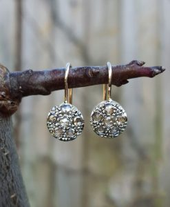 Edwardian drop earrings with 0.5 carat of diamonds