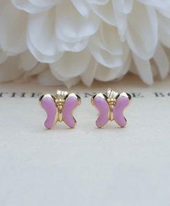 Gold butterfly earrings for babies