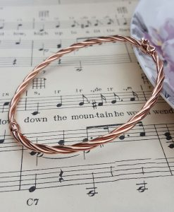 9ct Rose Gold Twisted Tube Bangle