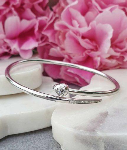 serpenti style wrap round bracelet with diamonds 18ct white gold
