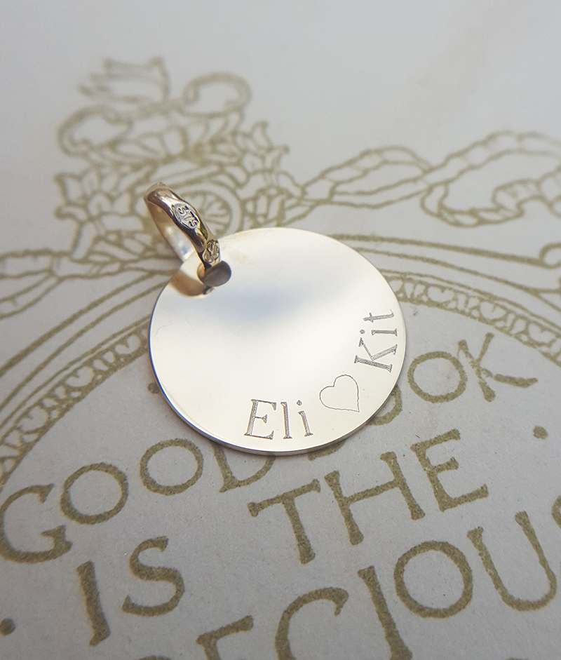 Personalised Solid 9ct Gold Disc Necklace (Yellow, White or Rose)