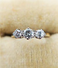 Three Stone Diamond Rings