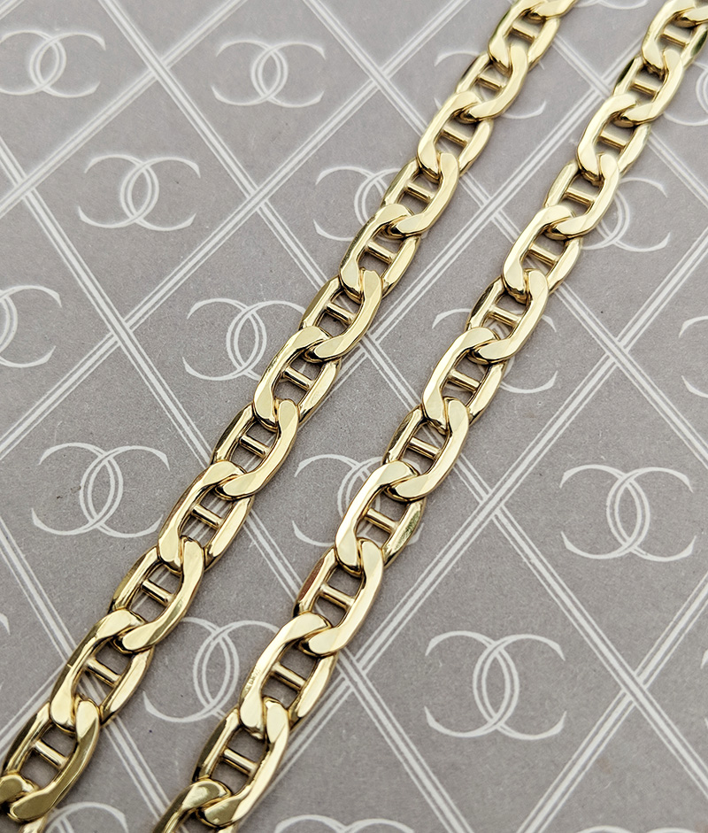 Gold Anchor Rambo Chains