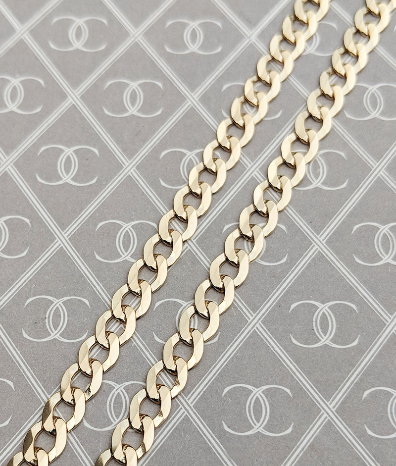 Men's Gold Curb Chain
