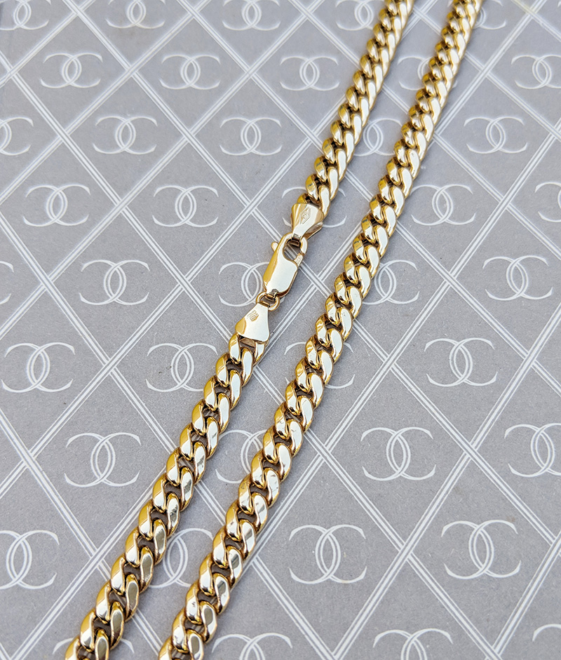 9ct Yellow Gold Curb 2.1mm Chain